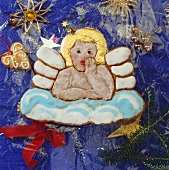 Gingerbread Christmas angel with icing