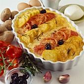 Potato and tomato bake