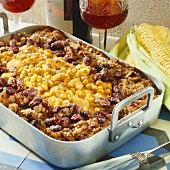Mince and sweetcorn bake