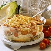 Chicken and savoy cabbage bake