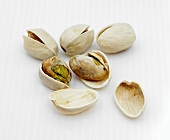 Several pistachios