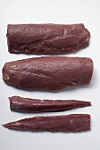 Fillets of venison taken from the saddle