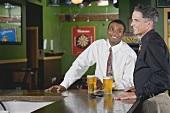 Two men in a pub