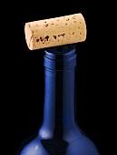 Weinkorken auf Flaschenhals