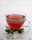 A cup of blueberry tea