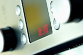Cooker control panel (showing the time)