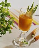 Carrot juice with celery