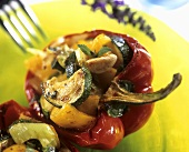 Stuffed pepper with vegetable stuffing