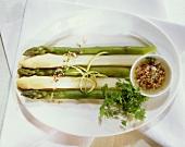 Asparagus spears with lime vinaigrette