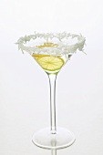Sambuca (anise liqueur, Italy) with lemon & grated coconut