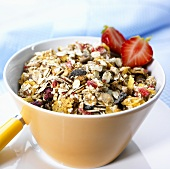 Active muesli in a bowl