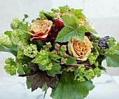 Mixed arrangement with roses