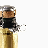 Sparkling wine bottle closure