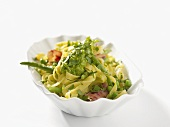 Fettuccine with green sauce