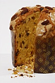 Panettone (Italian yeast cake for Christmas), close-up