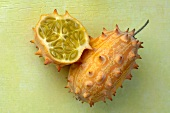 Whole kiwano and half a kiwano