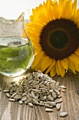 Shelled sunflower seeds, sunflower oil and sunflower