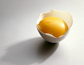 Egg yolk in eggshell