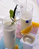 Orangen-Sojajoghurt-Drink