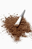 Cocoa powder with brush