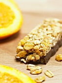 Orange and chocolate oat muesli bar