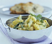 Cauliflower and chick-pea curry