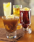 Assorted winter drinks