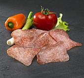 Kantwurst (Austrian sausage) and vegetables