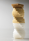 Tower of different types of sugar