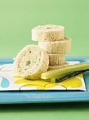 Egg pinwheel sandwiches with celery