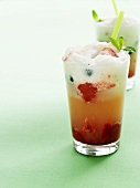 Strawberry Blueberry Float (with berries, ice cream & cream)