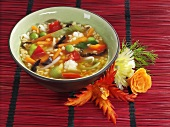 Asian rice and vegetable soup