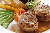 Parma ham-wrapped pork medallions