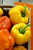 Yellow and orange peppers (detail)