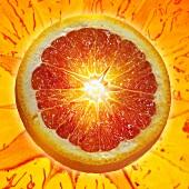 A slice of blood orange