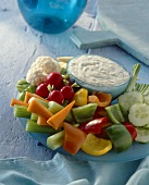 Crudites with a California dip