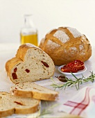 Tomato bread, sliced