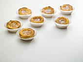 Coconut tarts in paper cases