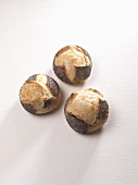 Three poppy seed rolls