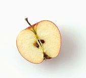 Half an apple, seen from above
