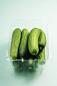 Cucumbers in a Plastic Container
