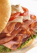 Ham Sandwich with Swiss Cheese, Tomato and Dijon Mustard