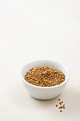 A bowl of mustard seeds