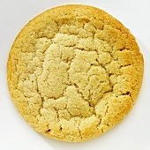 A Single Sugar Cookie; White Background
