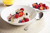 Cereals with fresh berries