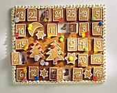 A gingerbread advent calendar