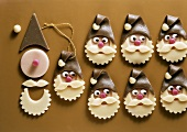Marzipan Father Christmas faces