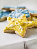 Iced Star Holiday Cookies
