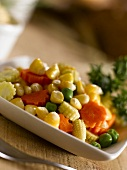 Mixed vegetables as an accompaniment