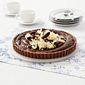 Chocolate tart with hazelnut base